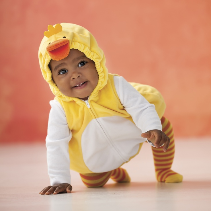 Abby is going to be a duck for Halloween!