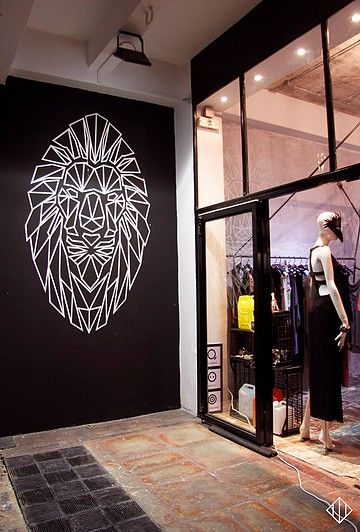 Tape art piece done for Mayhem Galleryfashion brand/show room   Located in the streets of Psirri