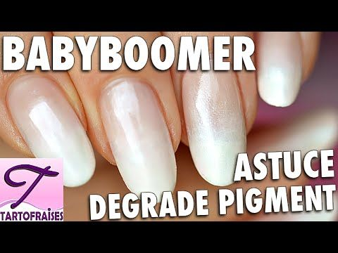 Tuto tendance Babyboomer : french manucure fondue + astuce dégradé au pigment - YouTube