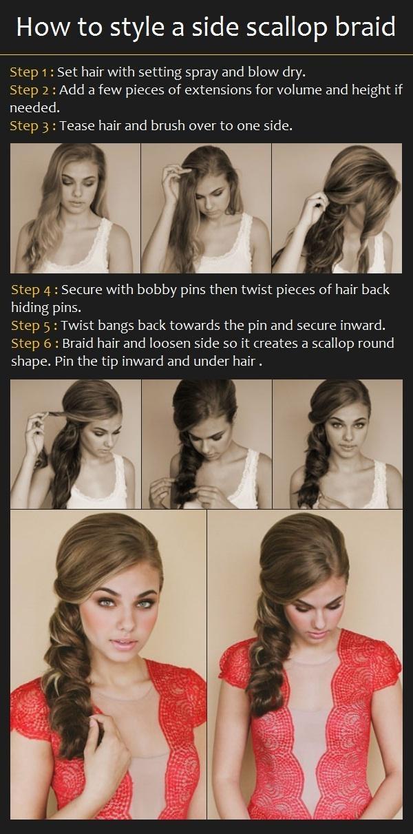 Dannielles hair. side scallop braid