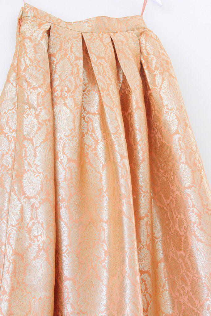 Gilded Skirt - Peach