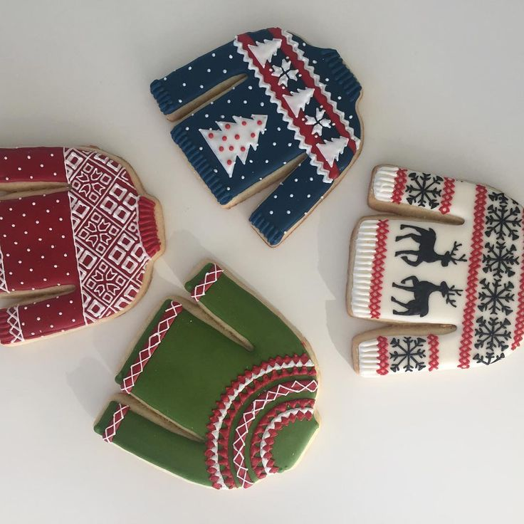 A very talented designer in our Merch dept designed and made these ugly Christmas sweater  sugar cookies  @esarcher8  These are the best this year!!!?