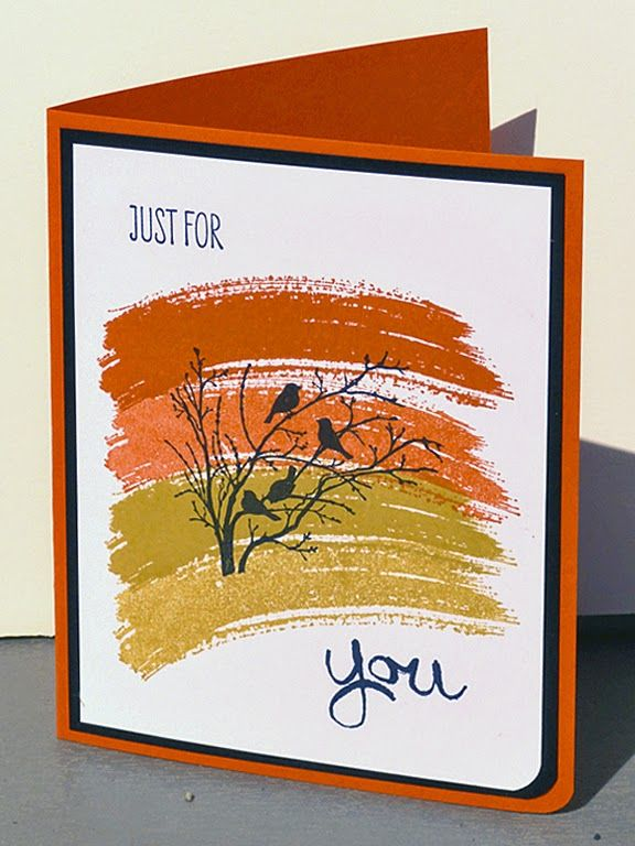 Just for You using Stampin Up Work of Art and Serene Silhouettes