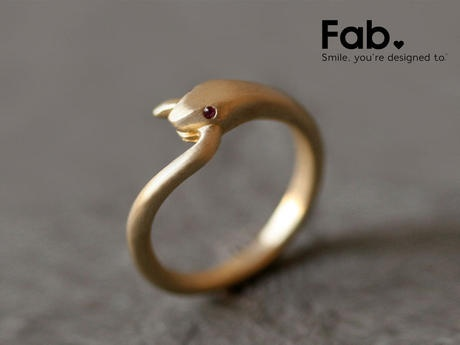 LivingSocial Shop: Ruby Snake Ring by Michelle Chang