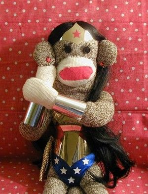 Imagine a whole little troop of Justice League monkeys propped up on my living room couch...I'd feel so safe.  And cuddled.