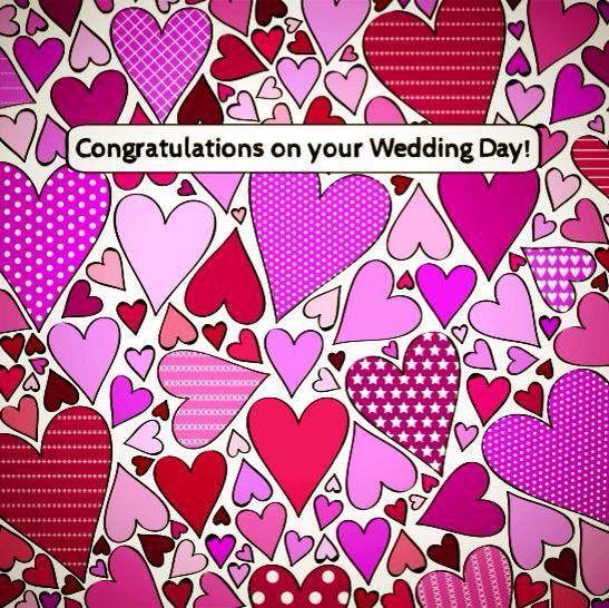 Wedding day card design