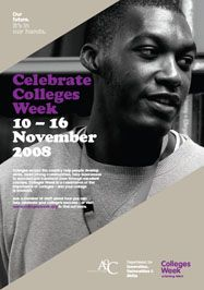College week poster 2008 with student from City and Islington College