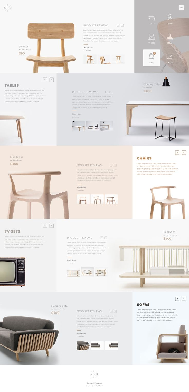 Modern furniture web
