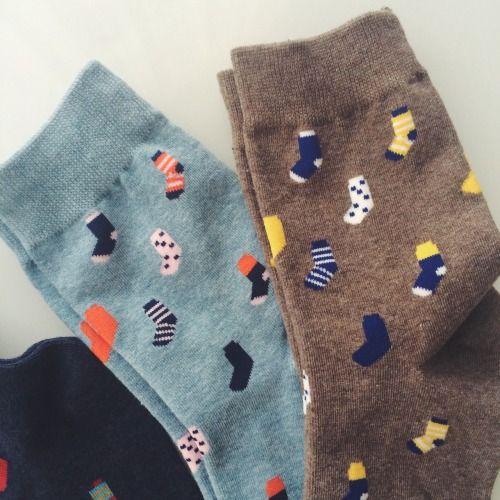 Socks on socks, so when you have them on it's socks on socks on feet. CUTE.