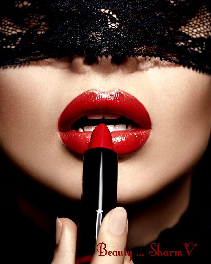 черно красные картинки губы частности
