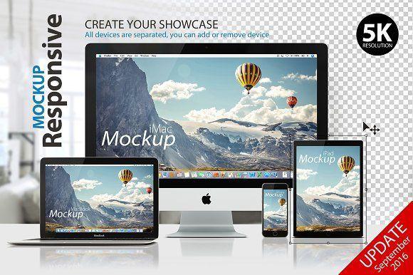 RESPONSIVE MOCKUP by Yuri-U on @creativemarket