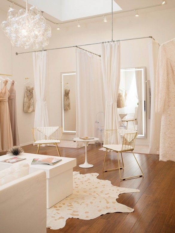 Go Inside A Feminine Luxe Bridal Salon Boutique InteriorBoutique Interior DesignBoutique