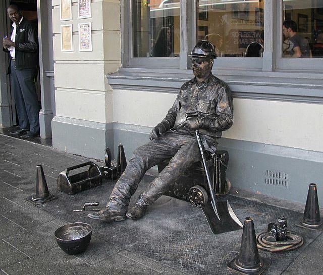 Image result for statue pretending busker