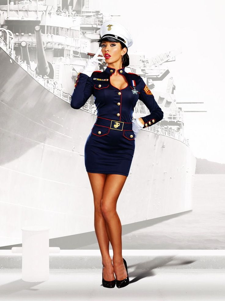 Sexy Marine Soldier Uniform Commendation Dress Military Costume Adult Women #Dreamgirl