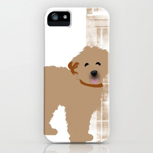 Brown Labradoodle dog on iPhone Case - ( 4S, 4, 5, 5S) black,color, silhouette, robust, plastic case, pet lover, iPhone 5 , Thanksgiving on Etsy, $37.00
