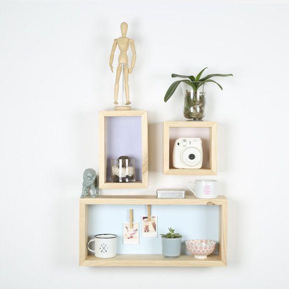 B&K Design and Decor - Trio Shelf Set Of 3