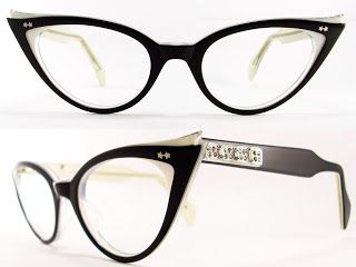 Vintage Eyeglasses Frames Eyewear Sunglasses 50S: VINTAGE 50s CAT EYE GLASSES SUNGLASSES FRAME GLASSES