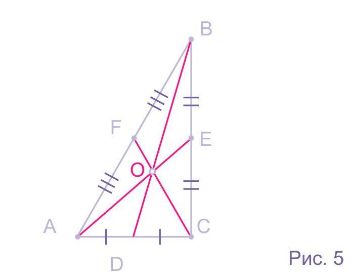 Центроид прямоугольного треугольника