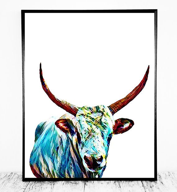 Cow Print Cow Printable Cow Decor Instant Download by CristylClear