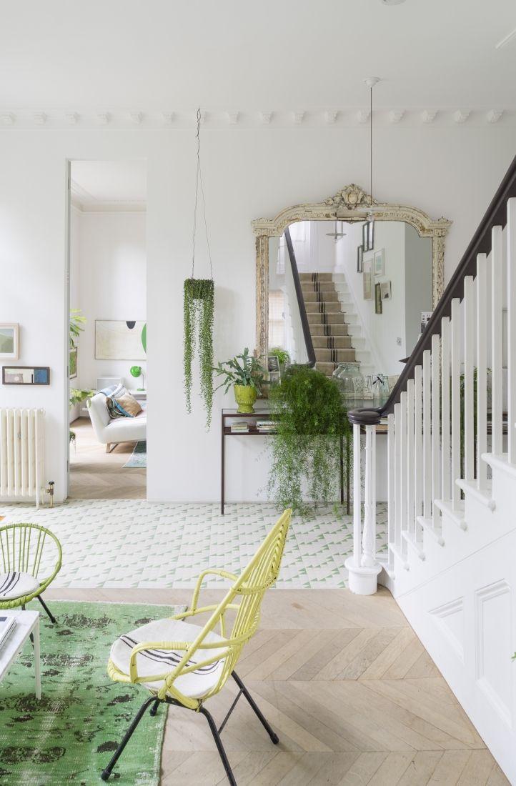 Verde primavera in una casa inglese