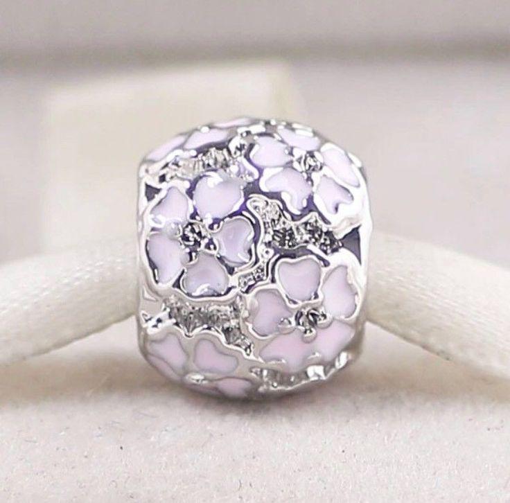 Pandora Pink Primrose 925 Sterling Silver Charm With Enamel