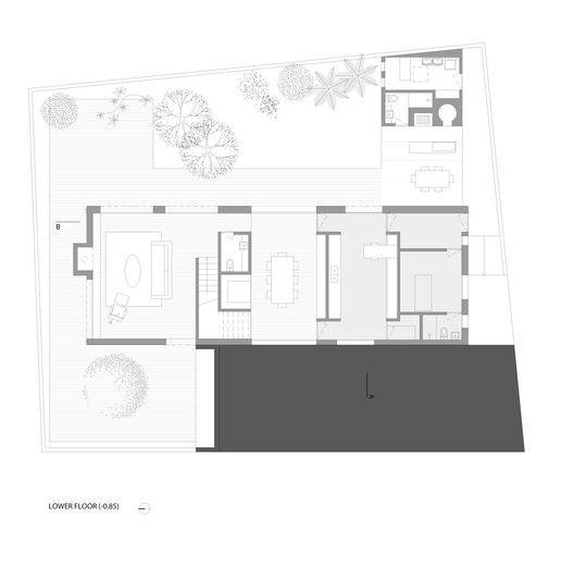 Casa dos Pátios,Planta Baixa