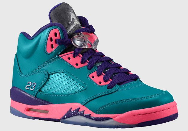 #airjordan 5 teal pink purple gs #Sneakers