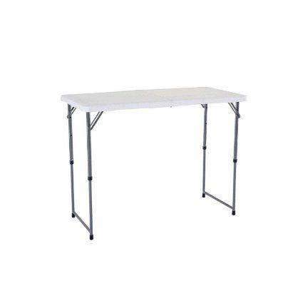 Amazon.com: Lifetime 4 Foot Adjustable 4428 Height Folding Utility Table:  Patio,