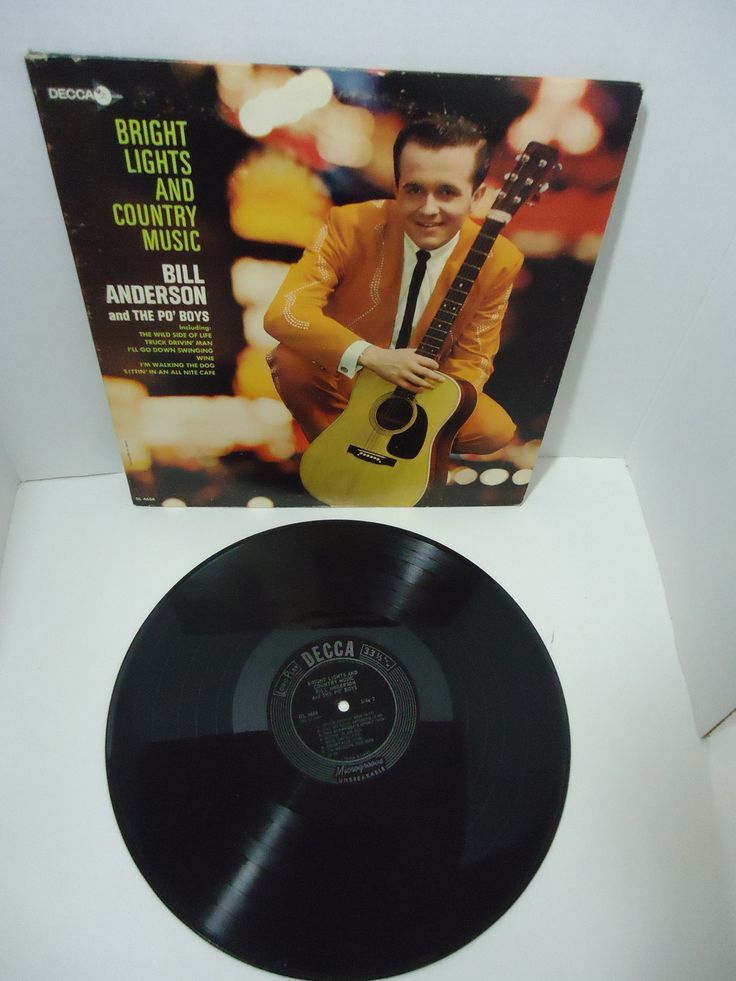 Bill Anderson & The Po' Boys – Bright Lights And Country Music [Mono]
