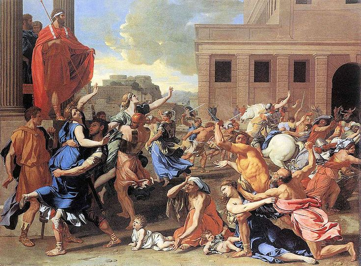 The Rape of the Sabine Women.- Nicolás Poussin, 1634-1635 en el Metropolitan Museum of Art.
