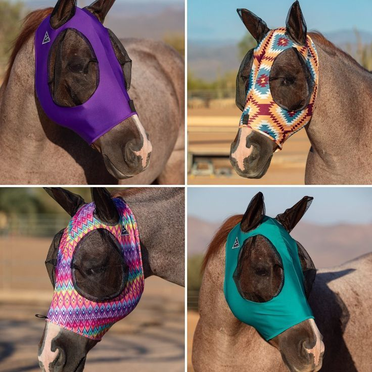 Professional/'s Choice Comfortfly Lycra Fly Mask with Mesh Eyes and Ears