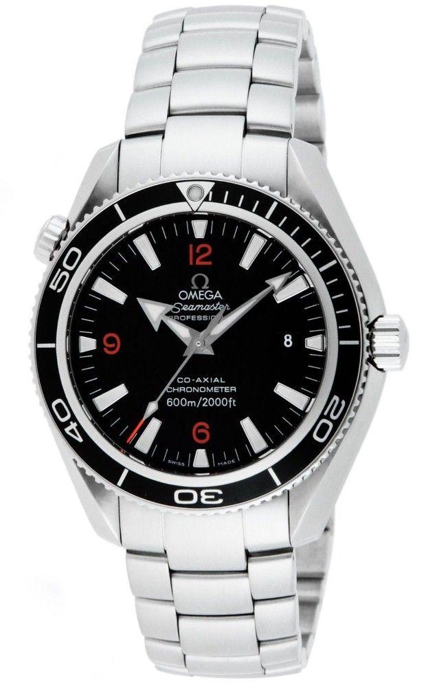 Omega men watches : Omega Men's 2201.51.00 Seamaster Black Dial Watch