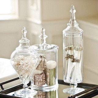 Bathroom Jars 196 best apothecary jars images on pinterest | glass, bathroom
