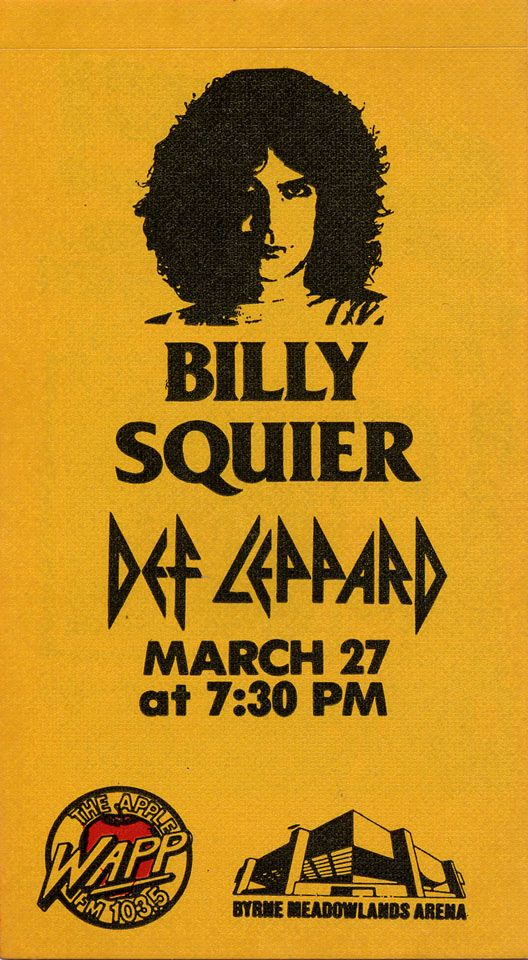 Billy Squier Tour Pass