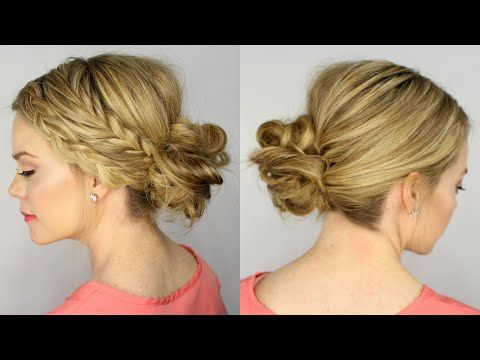 Trying this one for tomorrow for work .... Fishtail and Dutch Braid Messy Bun