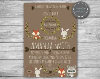 Woodland invitation woodland baby shower by MagicPartyDesigns