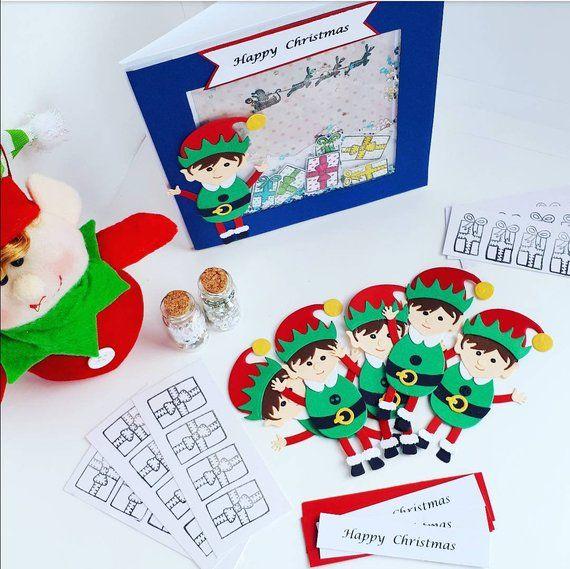 Diy Christmas Card Making Kit Do It Yourself Craft Make Your Own Card Kit Christmas C Christmas Card Making Kits Diy Christmas Cards Christmas Cards To Make