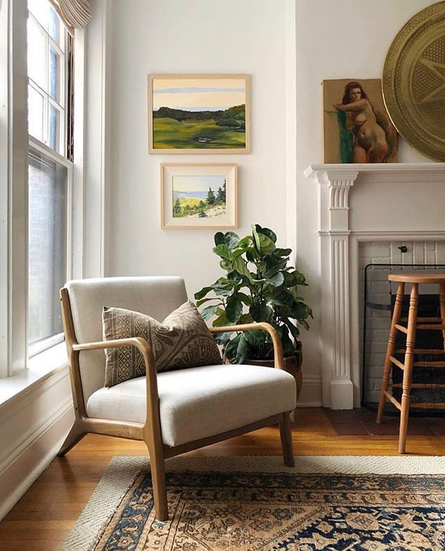 Trim Design Co This Cozy Bright Living Room Features An Off