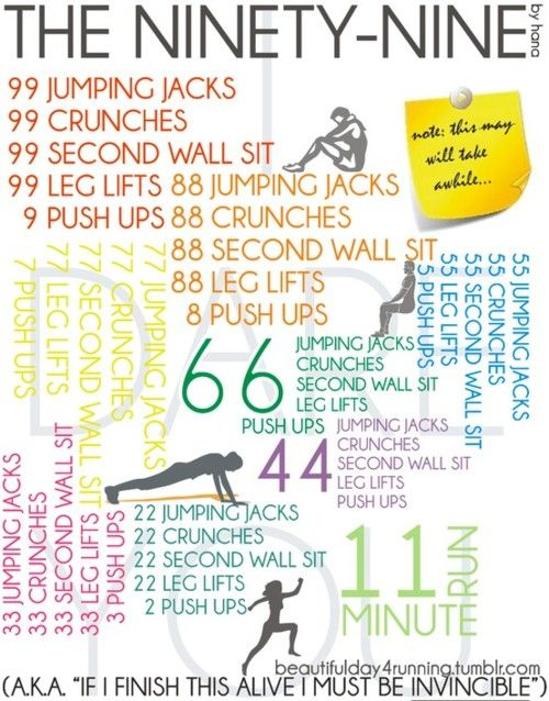 The 99 Workout: 99 Workout, Fitness, Weight Loss, Work Outs, Workouts, Motivation, Healthy, Exercise, I Will