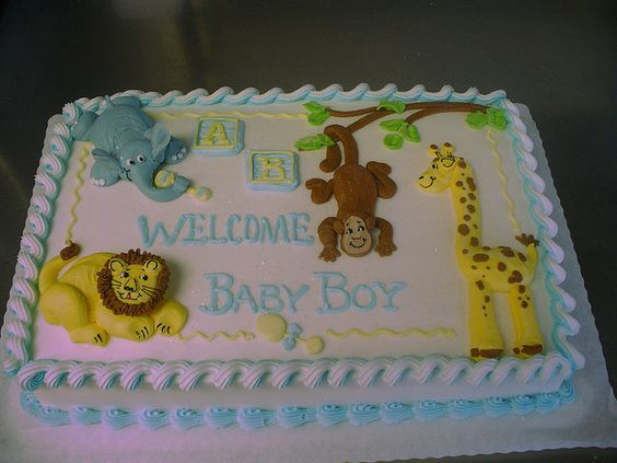 zoo animal baby shower cakes for a boy baby shower cakes a gallery
