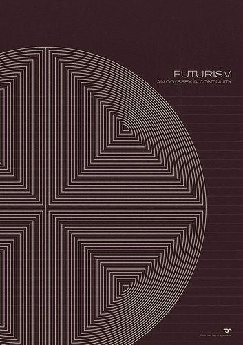 Futurism - Simon C. Page / Simon Page / Simon C Page / Page / SC Page / S.C. Page / simoncpage / simonpage - poster - graphic design - circle