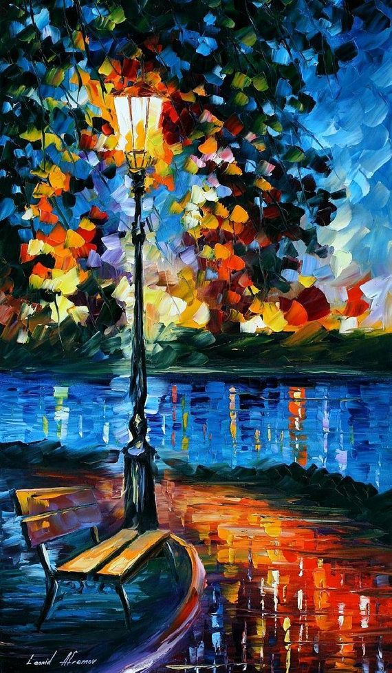 """""""Charm Of Loneliness"""" #Oil #Painting by Leonid #Afremov"""