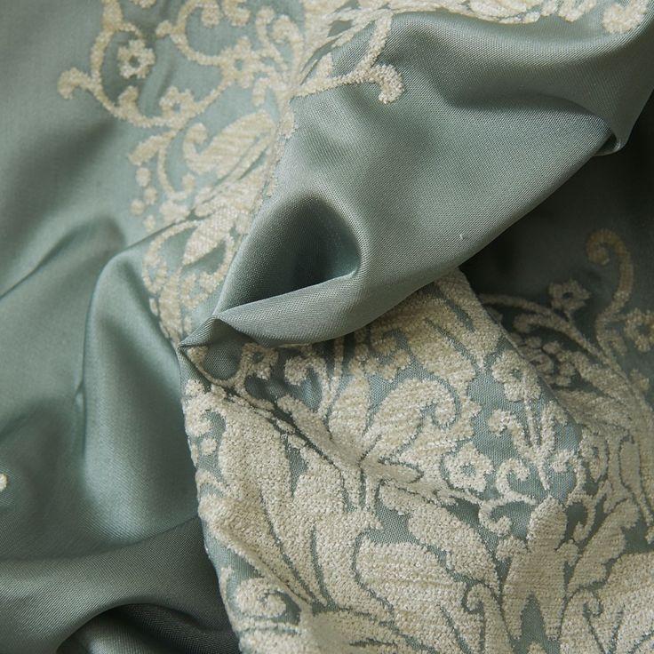 Neoclassical Grey Jacquard Energy Saving Curtain  #floral #curtains #homedecor #interiordesign