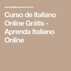 Curso de Italiano Online Grátis - Aprenda Italiano Online