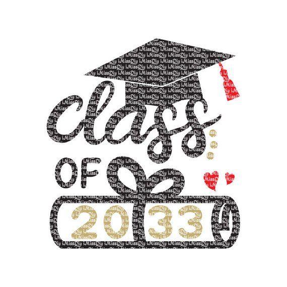 Class of 2033 svg kindergarten graduation svg diploma svg