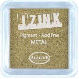 Inkoustový polštářek IZINK / Metalický zlatý