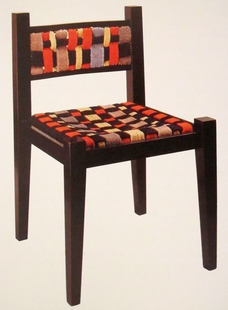 chair by marcel breuer woven band cover by gunta st lzl. Black Bedroom Furniture Sets. Home Design Ideas