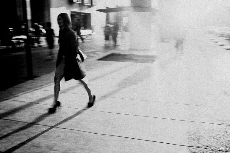 Lady Speedstick (II) — City Rush Series, by Abelardo Ojeda.  // More of my Street Photography: http://cybergus.tumblr.com | #StreetPhotography #MexicoCity #BlackandWhite #Art