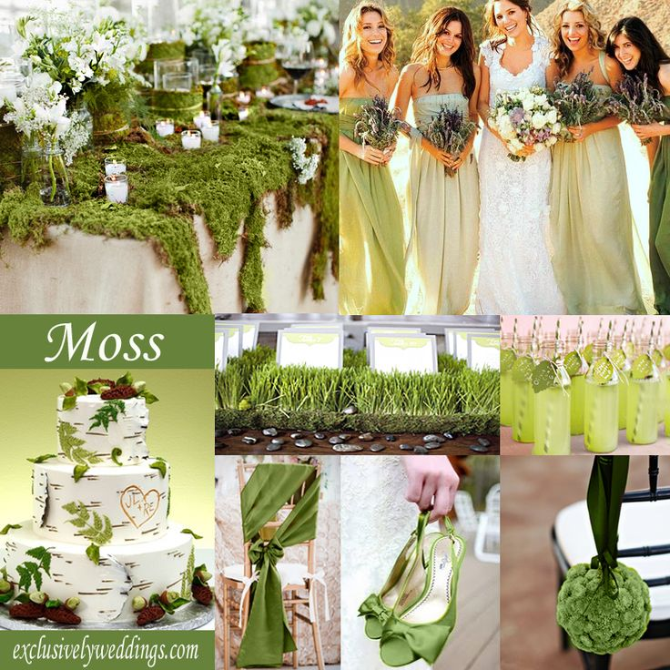 Moss Green Wedding Color - You may want to consider Moss Green if you are looking for an outdoorsy vibe. | #exclusivelyweddings