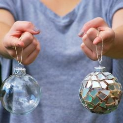 Turn old CDs into sparkly new ornaments!  Great to toss the light around!